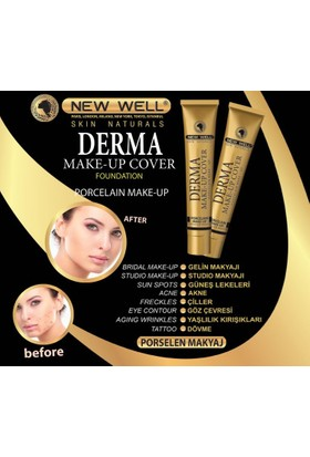 New Well Derma Makeup Cover Yoğun Kapatıcı Fondöten - 02 Copper