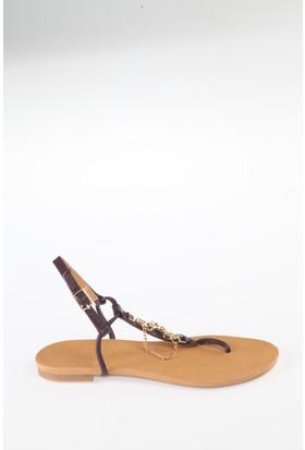 Simoty Kadın Mor Topuksuz Sandalet