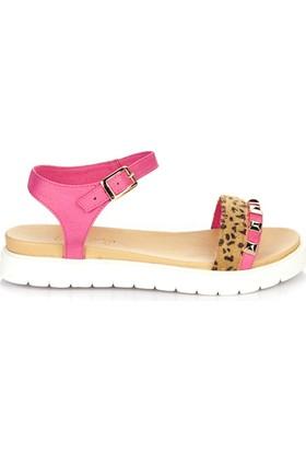 Simoty Kadın Fuşya Dolgu Topuk Sandalet