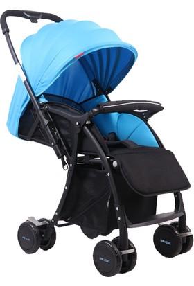 Wellgro Çiftli Yönlü Bebek Arabası Autoban Mavi