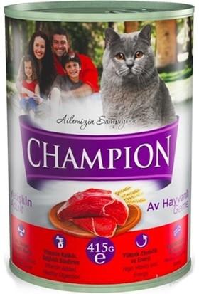 Champion 12 Adet Av Hayvanlı Kedi Konservesi 415 Gr