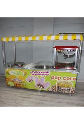 Pamuk Şeker Popcorn ve Bardakta Mısır Arabası İmallattan 1. Kalite