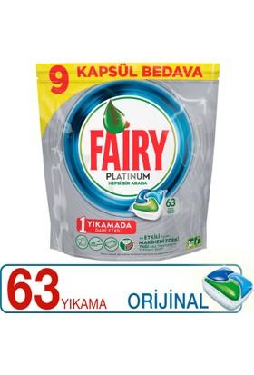 Fairy Platinum Bulaşık Makinesi Deterjanı Kapsülü Orijinal 63 Yıkama