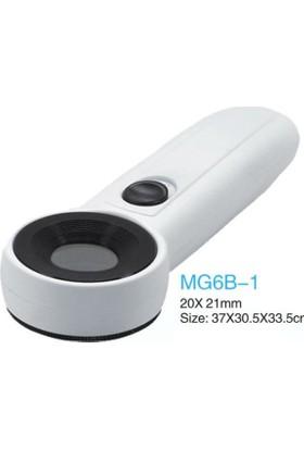 Ledwell Mg6B-1 El Tipi 2 Ledli Işıklı Büyüteç 40X Büyütme 21Mm Lens