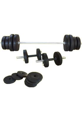 Borçin Dambıl Seti Ağırlık Seti Halter 60 kg Set