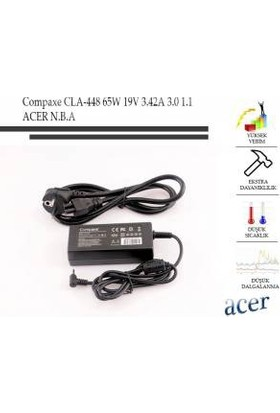 Compaxe Cla-448 65W 19V 3.42A 3.0-1.1 Notebook Adaptör