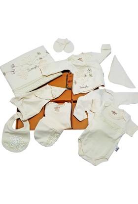 Karyel Bebe 10 Parça Organik Lisanslı Bebek Hastane Çıkışı Yeni Doğan Zıbın Seti