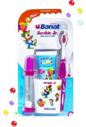 Banat Acrobat Junior Diş Fırça Seti Macun + Bardak + Kum Saati