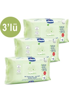 Chicco Baby Moments Islak Mendil 3 Tane 72 Adet