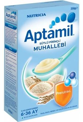 Aptamil Kaşık Mama Sütlü Pirinçli Muhallebi 250 Gr
