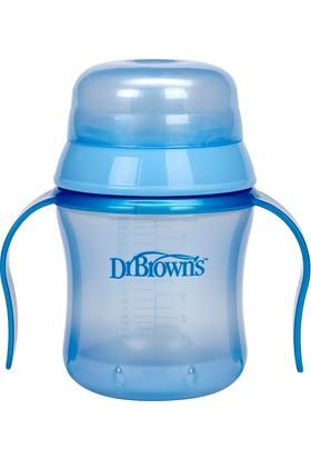 Dr. Brown's Su Oluklu Damla Akıtmayan Bardak +6 Ay (Mavi)