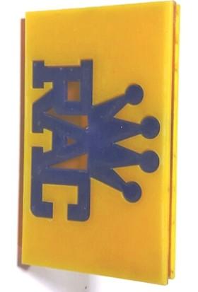 Süslenoto Panjur Arması Rac King Sarı 9Cmx5,5Cm