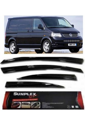 Sunplex 4 Lü Volkswagen Transporter T5-T6 Mügen Tipi Sport Stlye Sunplex Cam Rüzgarlığı