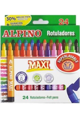 Alpino Maxi Jumbo Keçeli Kalem 24 Lü