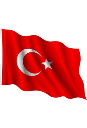 Alsancak Türk Bayrağı Kumaş 50X75 Cm