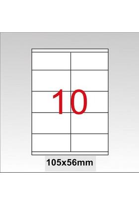 Taneks Lazer Etiket 105X56 Mm 1000 Li Pk.