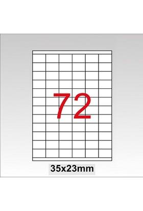 Taneks Lazer Etiket 35X23Mm 7200 Lü Paket
