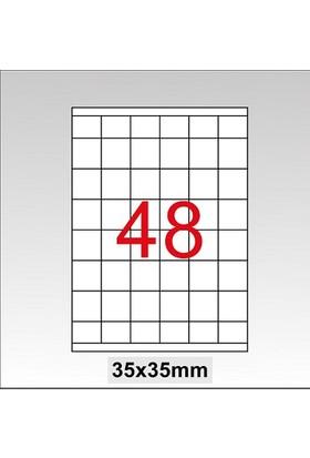 Taneks Lazer Etiket 35X35 Mm 4800 Lü Paket