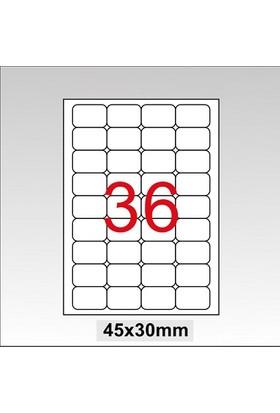 Taneks Lazer Etiket 45X30 Mm 3600 Lü Paket