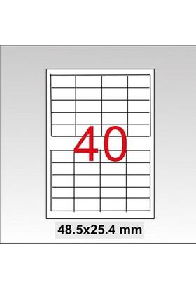 Taneks Lazer Etiket 48,5X25,4 Mm 4000 Lü Paket