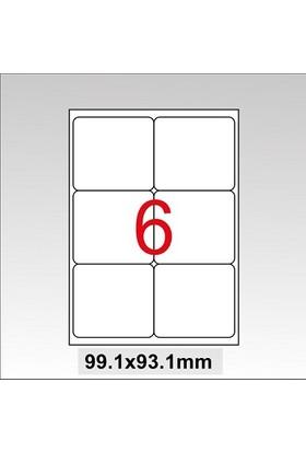 Taneks Lazer Etiket 99,1X93,1Mm 600 Lü Paket