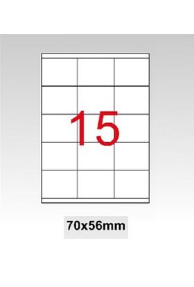 Taneks Lazer Etiket 70X56 Mm 1500 Lü Pk