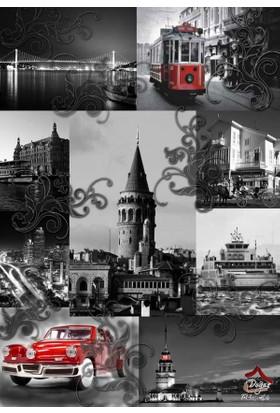 Doğuş Peluş Halı 3D Pano 101 Genç İstanbul Nostalji