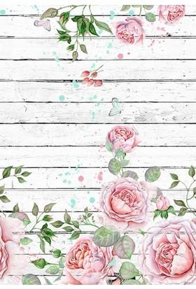 Doğuş Peluş Halı 3D Pano 811 Güller Beyaz