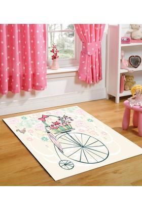 Bebişim Sepetli Bisiklet Çocuk Halısı