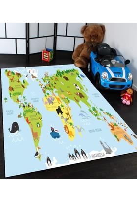 Bebişim Dünya Haritası Çocuk Halısı