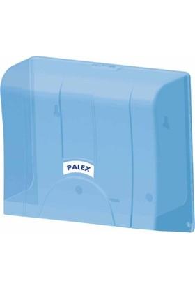 Palex 3570-1 Standart Z Katlı Kağıt Havlu Dispenseri Şeffaf Mavi