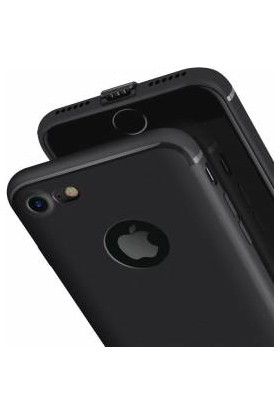 cepstore Apple iPhone 7 360 Tam Koruma Tıpalı Silikon Kılıf