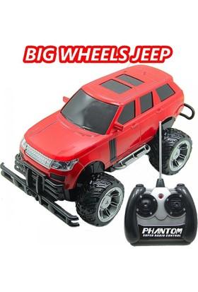 Sunman 1:14 Kumandalı Büyük Tekerli Kırmızı Jeep