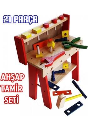 Güven Ahşap Tamir Tezgahı 21 Parça Çocuk Oyuncak