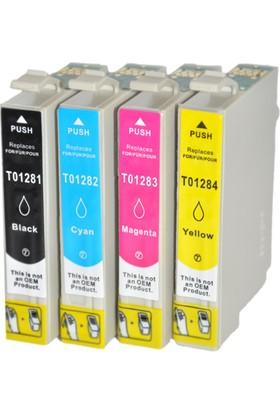 Ekoset EPSON T1281-T1284 Uyumlu muadil kartuş 4 renk -1 takım
