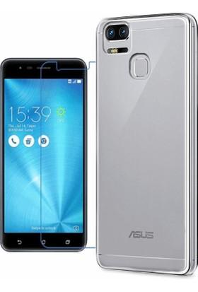 KılıfShop Asus ZenFone 3 Zoom (ZE553KL) Silikon Kılıf + Ekran Koruyucu