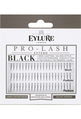 Eylure Pro - Lash Black Short/Medium/Medium Tekli Takma Kirpik