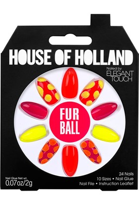 Elegant Touch House Of Holland Fur Ball False Nails 24