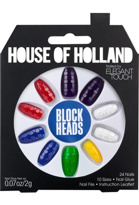 Elegant Touch House Of Holland Block Heads False Nails 24