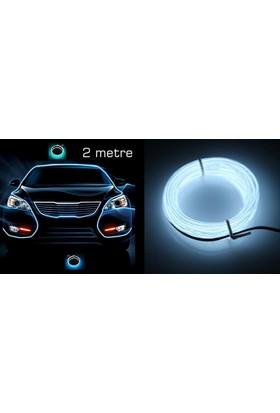 Flexible Beyaz Tube Neon Kablo 2 Metre 378814