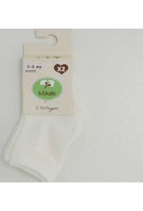 Kitikate 95675 2'li Organik Bebek Çorabı