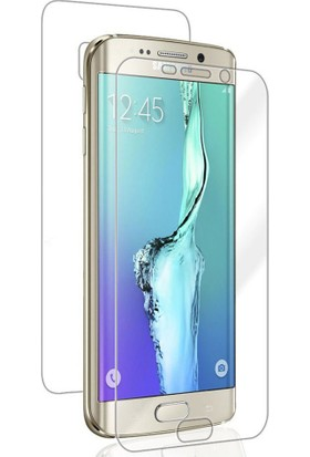 Case 4U Samsung Galaxy S6 Edge Ön + Arka Tam Ekran Kaplayıcı Film Kavisler Dahil