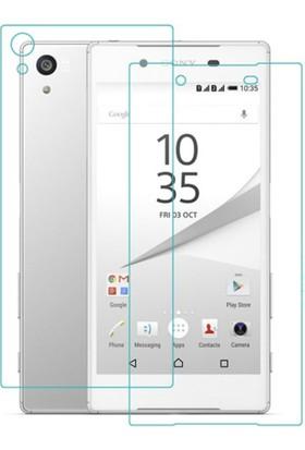 Case 4U Sony Xperia Z5 Premium Cam Ekran Koruyucu Ön+Arka