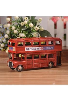 Mnk El Yapımı Nostaljik Metal Londra Şehir Otobüsü 1510A-8272