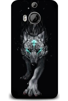 Dynamics Htc M9 Plus Kılıf - Fantasy Wolf Desenli Arka Kapak