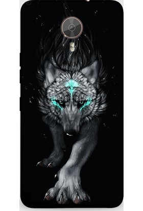 Dynamics General Mobile Gm5 Plus Kılıf - Fantasy Wolf Desenli Arka Kapak