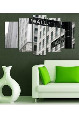 Insigne 5 Parçalı Mdf Tablo- Wall Street