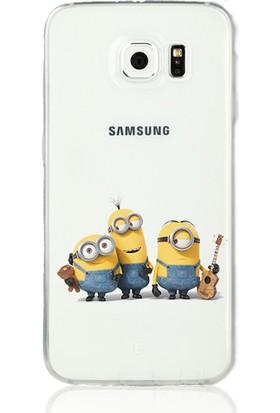 MobilGiydir Samsung Galaxy A3 (2017) Arkadaş Minion Silikon Kılıf
