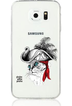 MobilGiydir Samsung Galaxy A3 (2017) Korsan Kedili Silikon Kılıf