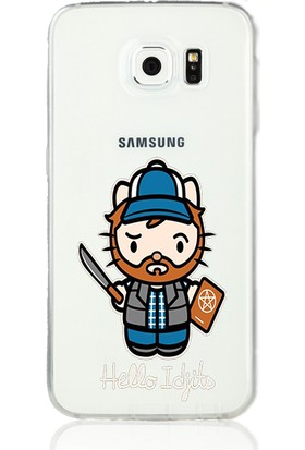 MobilGiydir Samsung Galaxy C7 Hello Idjit Silikon Kılıf